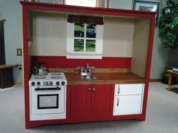 Pottery Barn Pro Chef Play Kitchen My Version Of A Play Kitchen Made From An Old Entertainment Center