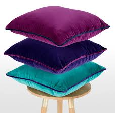 Purple Patio Cushions by Plum Cushion In Velvet 50x50cm Vintage Style Mya Purple Teal