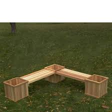 Garden Bench With Planters Garden Bench With Flower Box Google Search Landscaping