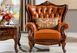 Luxury Leather Sofa Classic Leather Sofa Seat Chair Set With Luxury Pillows