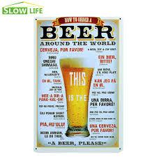 beer around the world tin sign bar pub hotel wall decor metal sign
