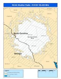 Georgia Zip Codes Map by Noaa Weather Radio