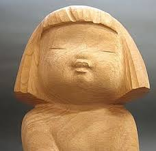 beautiful japanese wood sculpture small by nobuo item 391259