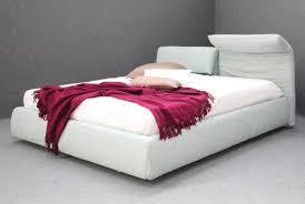 materasso 160 x 200 letto imbottito cuscini reclinabili tessuto ecopelle letto