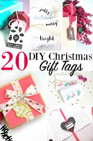 20 diy christmas gift tags card holiday presents