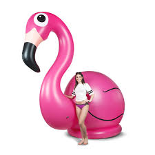 pink flamingo lawn ornaments giant 11 foot tall inflatable flamingo lawn ornament geekologie