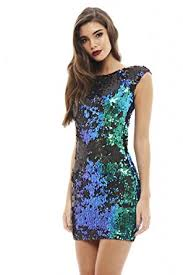 blue bodycon dress ax women s iridescent sequin bodycon dress clothing