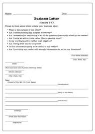 Business Letter Language 5th grade letter writing business letter format teaching