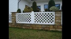 garden fence pvc pergola grid skew fence top fence