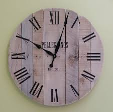 reclaimed wood wall large 36 large pallet clock reclaimed wood wall clock rustic wood