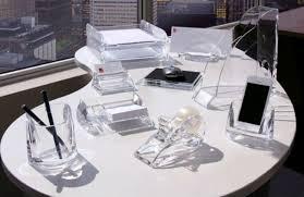 Clear Lucite Desk Acrylic Desk Accessories Unique U2014 All Home Ideas And Decor