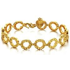 ladies gold bracelet design images Fashion chunky chain bracelet gold bracelet designs women in jpg