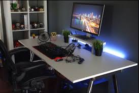 simple single monitor setup gaming setup pinterest monitor