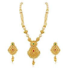 Buy Designer Gold Plated Golden Palash Trendsetting Lct Gold Plated Designer Pendal Set With
