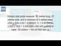 how many gallons are in an olympic size swimming pool youtube