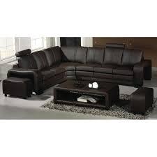 canapé d angle cuir canapé d angle en cuir marron avec têtières relax havane angle