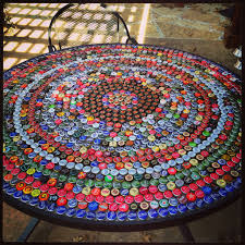 beer cap table top tapas de bebidas pinteres