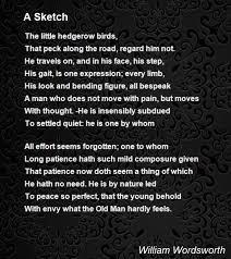 a sketch poem by william wordsworth poem hunter
