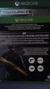 Buy Rainbow Six Siege Gold Free Rainbow Six Siege Gold Weapons Pack Code Xbox Listia