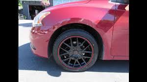 nissan sentra rim size 2013 nissan sentra with 17 inch red u0026 black rims u0026 tires youtube