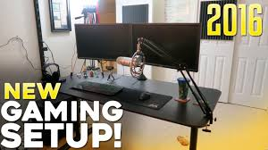 Video Gaming Desk by New Gaming Setup 2016 Youtube