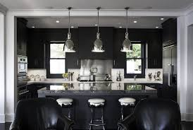 Transitional Island Lighting Black Light Decoration Ideas Kitchen Transitional With Breakfast