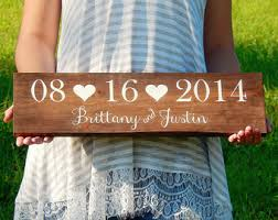 wedding gift name sign wedding date sign etsy