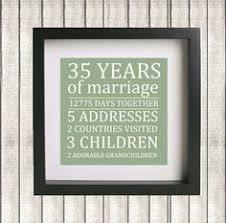 35 anniversary gift 35th wedding anniversary gift wedding ideas