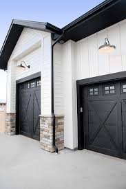 beautiful garage door and stain color exterior paint colors