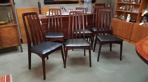 rosewood dining room furniture set of 6 danish modern brazilian rosewood dining chairs by