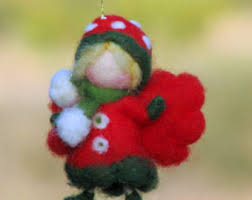 christmas ornament little prince boy needle felted prince