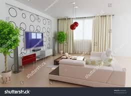 modern living room3d renderi designer wallpaper stock illustration