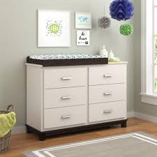 cherry changing table dresser combo dorel leni white and coffee house plank 6 drawer dresser with