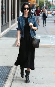 how to wear a navy denim jacket with black boots women u0027s fashion