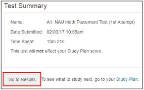 taking the test math placement northern arizona university