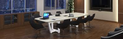 conference room furniture tables seating monitors consoles