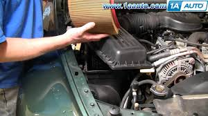 2000 dodge durango change how to install replace air filter cleaner dodge durango dakota 98