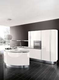 contemporary kitchen wood veneer island round volare