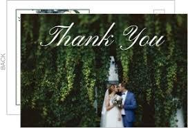 wedding thank you postcards cheap wedding thank you cards invite shop