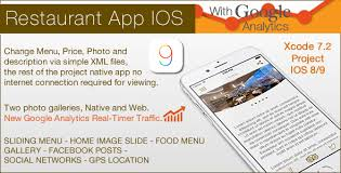 restaurant ios template by unostile codecanyon