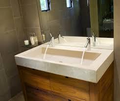 bathroom trough sink trough style bathroom sink modern double trough sink from j aaron