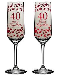 40 year anniversary gift 40 years together 40th anniversary chagne flutes in gift box