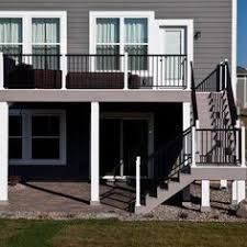 Deck With Patio by Best 25 High Deck Ideas On Pinterest Second Story Deck Two