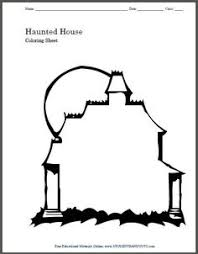 haunted house coloring pages printables coloring pages castles