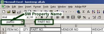 Bom Template Excel Create A Custom Excel Bom Solidworks