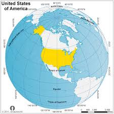 usa map a usa map of the united states of america from a globe stock photo