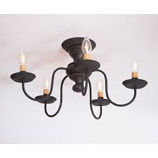 Iron Ceiling Light Colonial Country And Primitive Ceiling Lighting