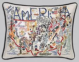 Original Home Decor Amazon Com Catstudio America Pillow Original Geography