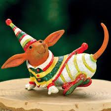patience brewster mini dachshund ornament