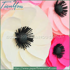 crepe paper flowers custom large crepe paper flowers papaver paper craft china supplier